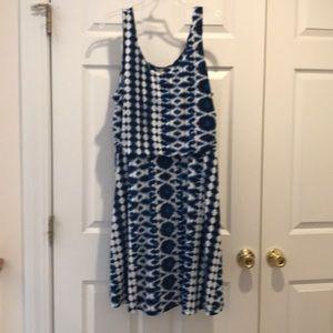 Fun print tank dress- Faded Glory NWT